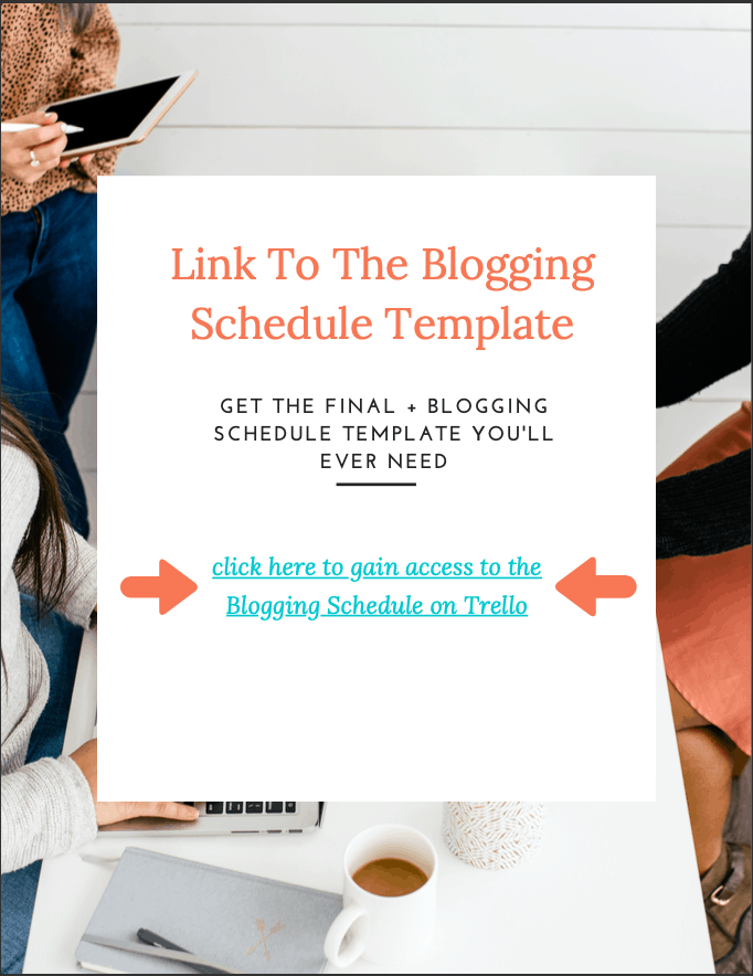 Blogging Schedule template - cover pic