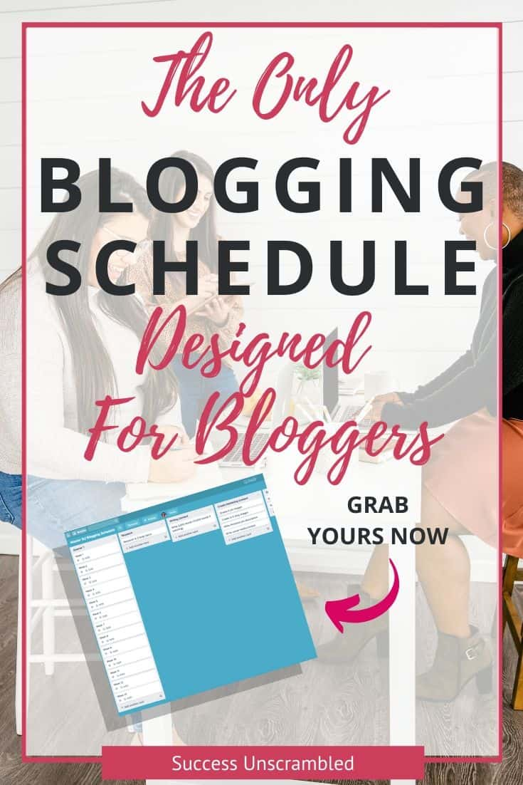 The only blogging schedule you need this year, for bloggers - pin 2