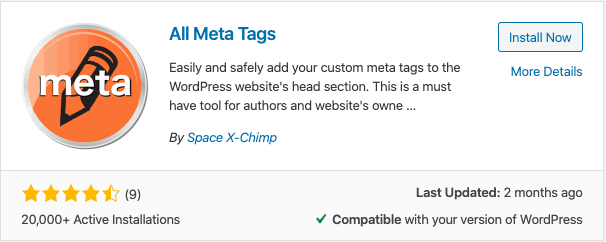 All Meta Tags