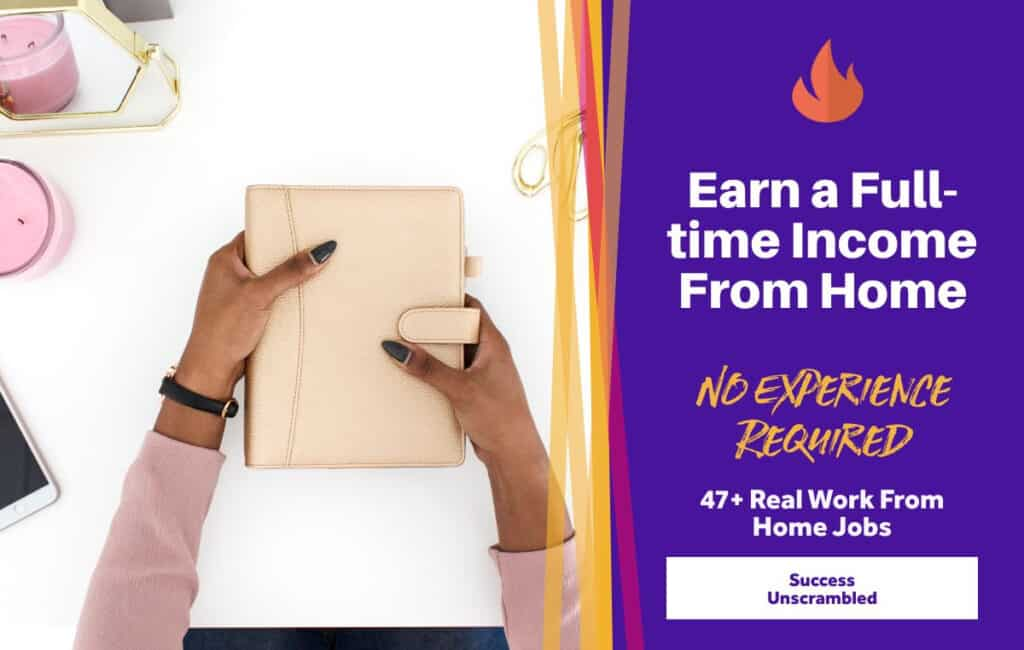 Earn a Full-time Income from Home - Work from home jobs - blog post