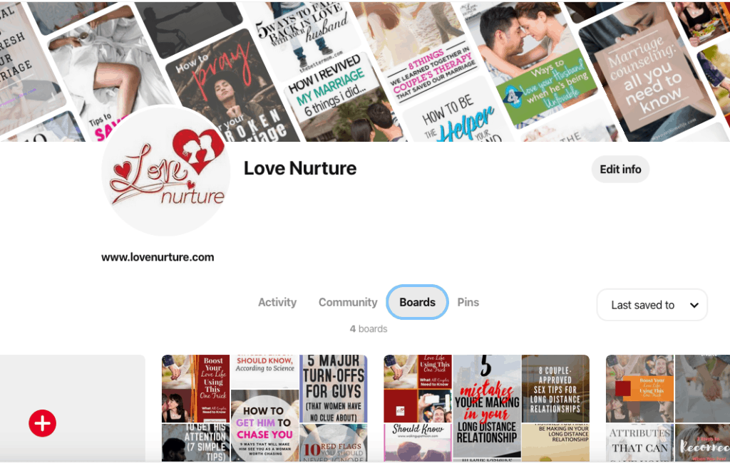 Pinterest business account tidy up