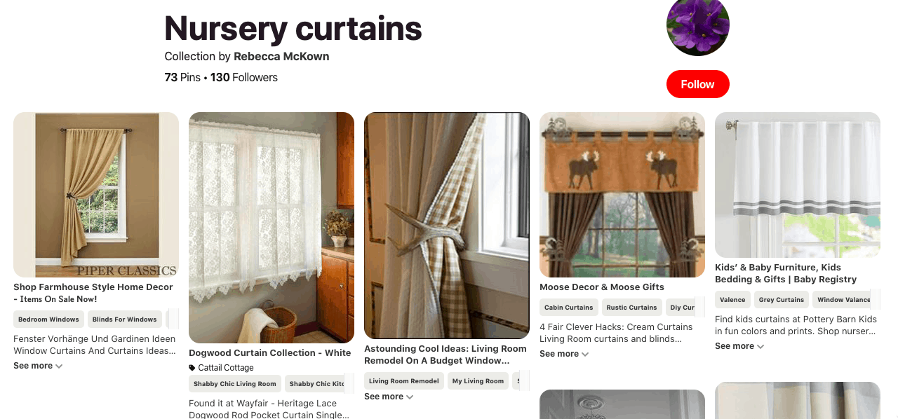 pretty nursery curtain - clickthrough from Google