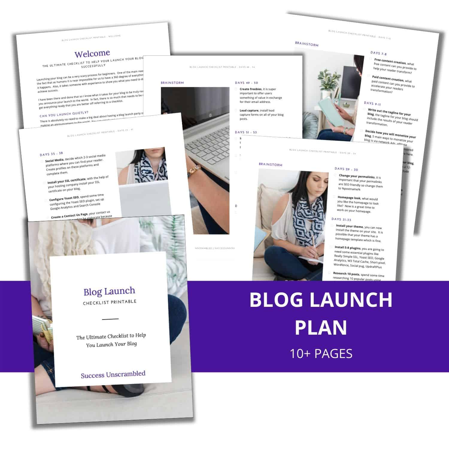 Blog Launch Checklist - 6 Page Graphic