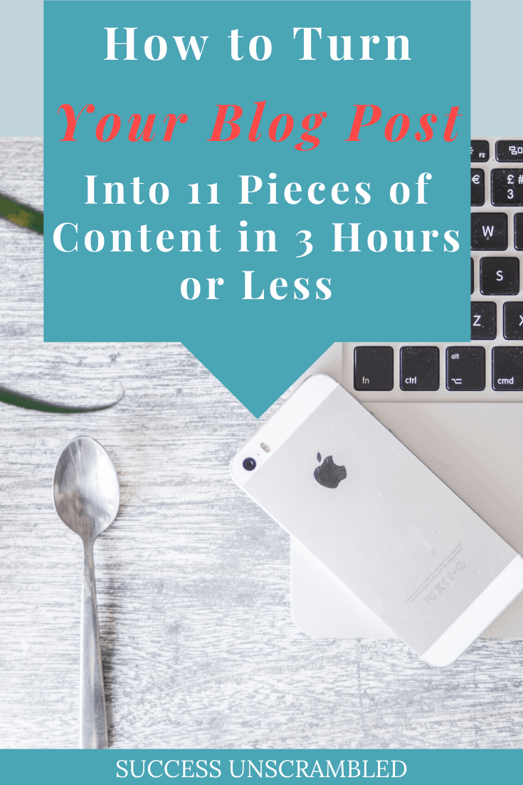 How turn your blog post into 11 pieces of content in 3 hours