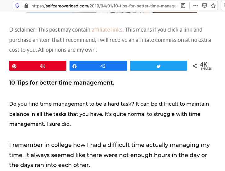 re-pin count of time management pin in 1st place