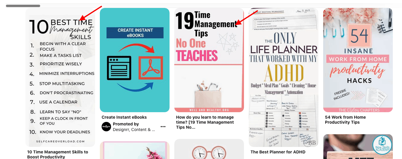time management - pin ranking in 1st place