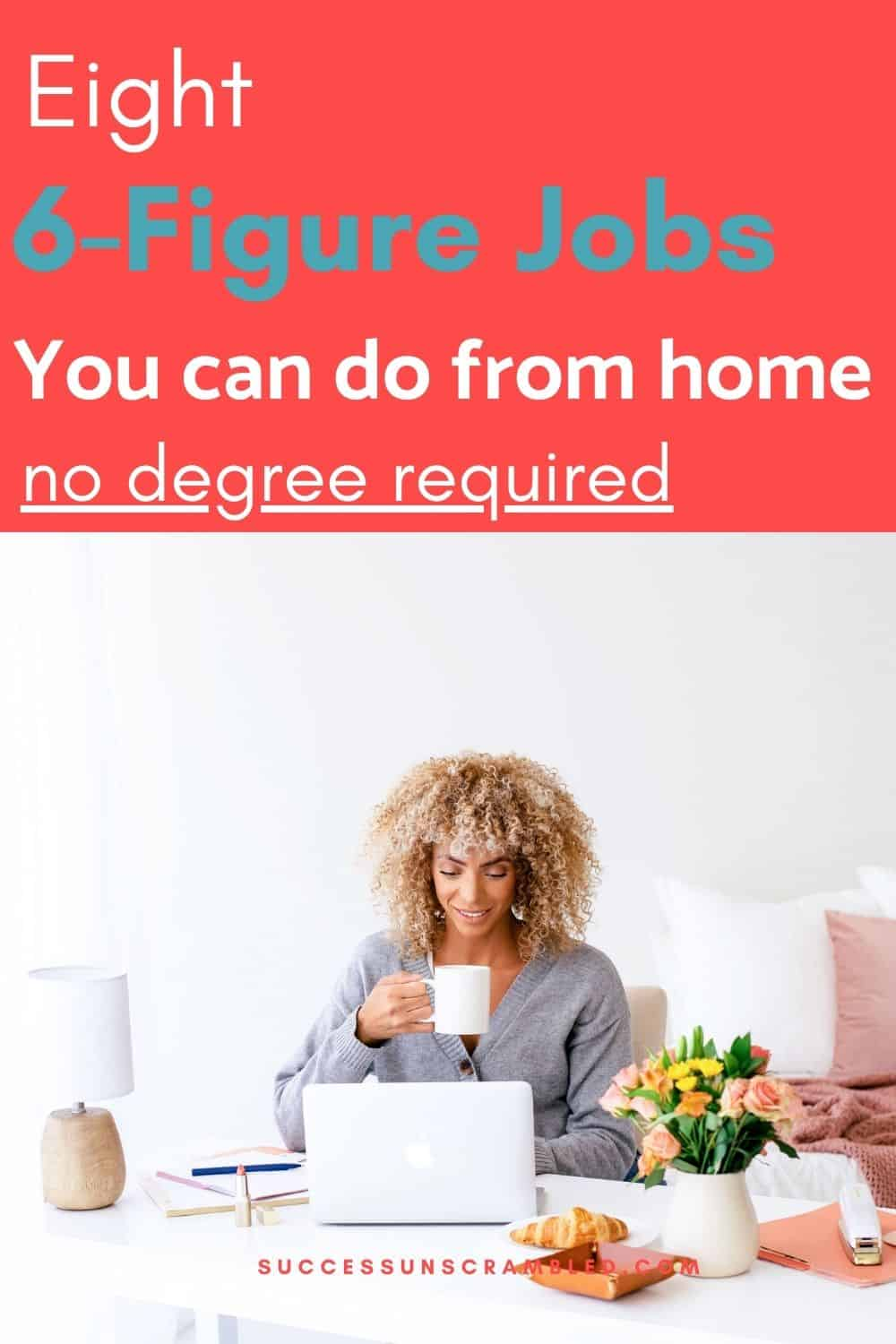 6 Figure Jobs salary you can do from home