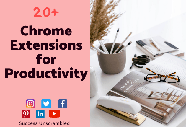 Chrome extensions for Productivity - 630x430