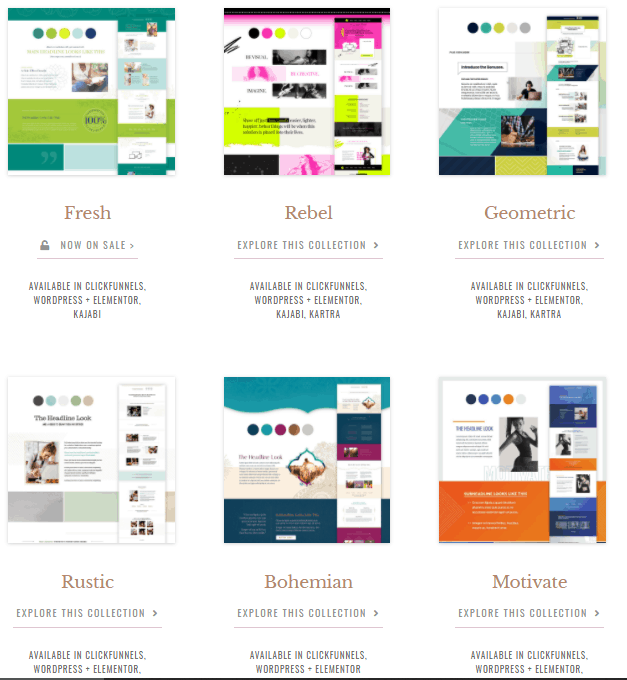 Funnel Gorgeous landing page templates