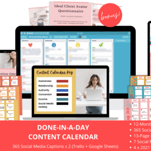 Done in a Day Content Plan - pdt image