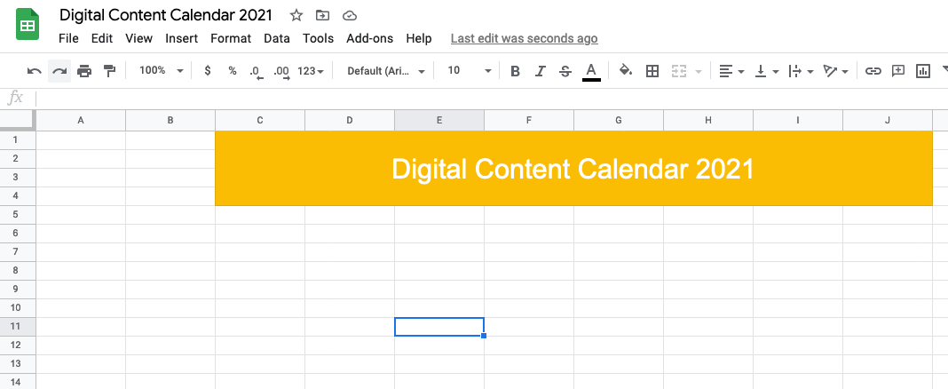 Give your content calendar a name