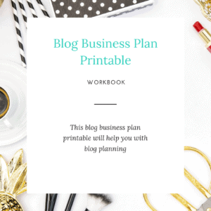 Blog Business Plan Cover