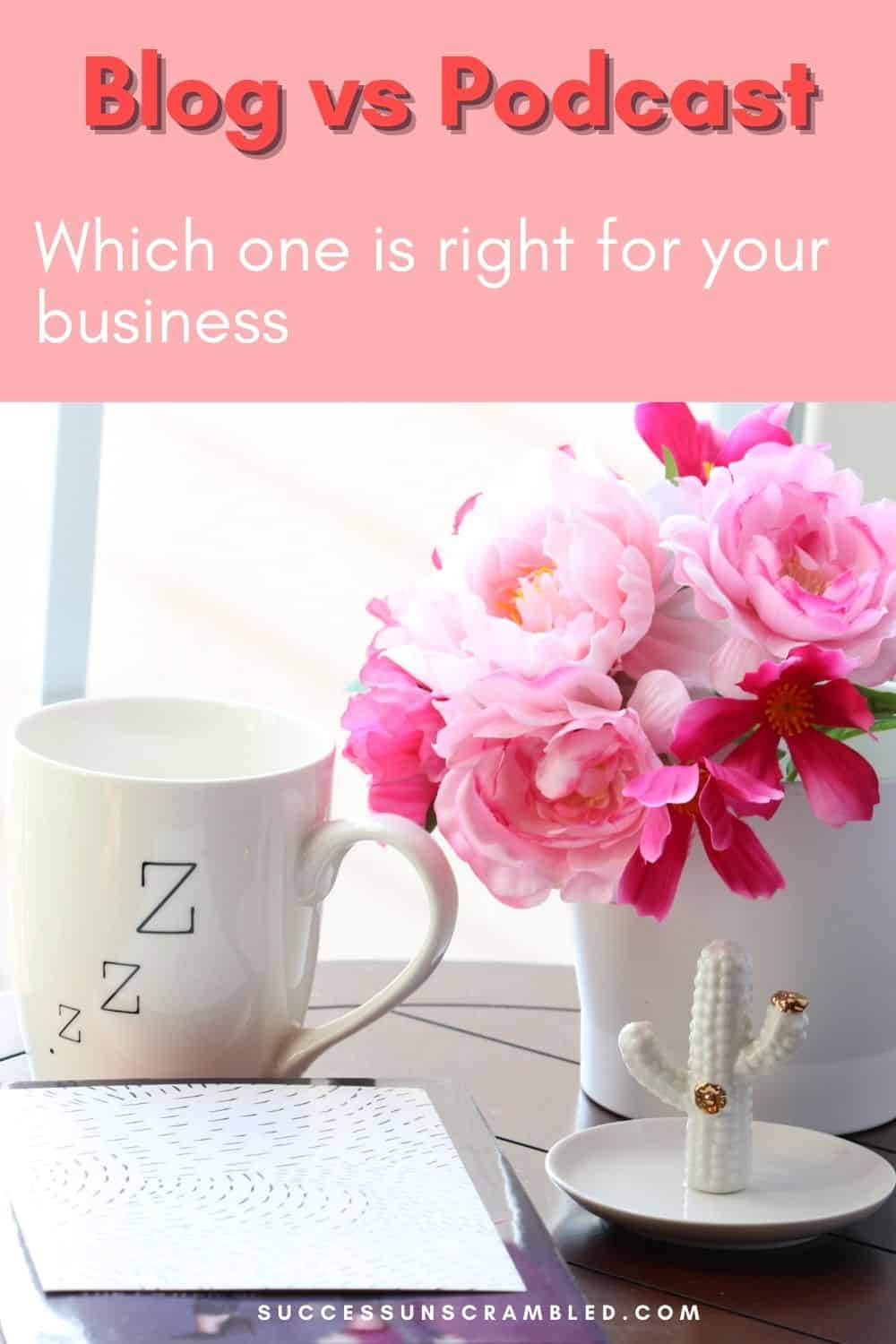 image showing a bunch of flowers next to a coffee mug and notepad