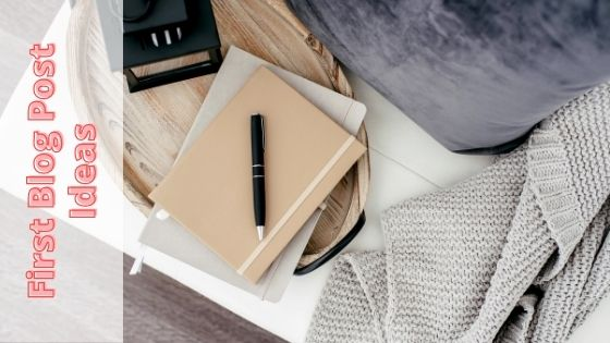 photo of notebook, pen and lamp on a breakfast tray from top view