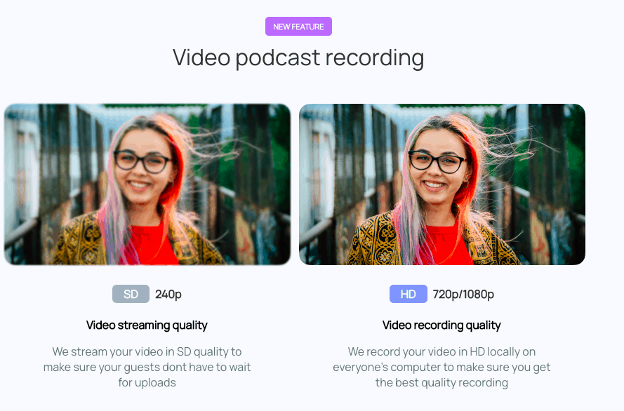 Zencastr video podcast recording