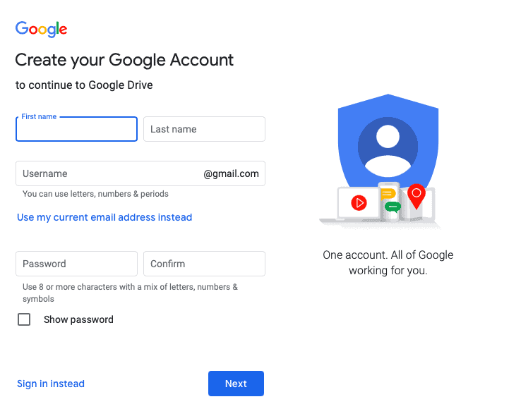 Google account to manage business