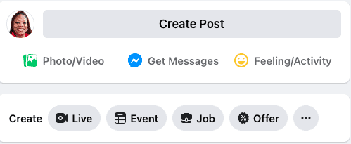FB business page - create a post