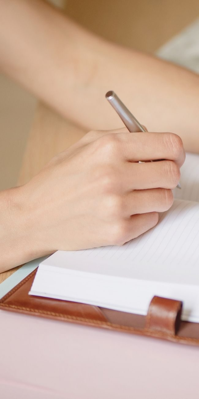 Images for Sales Page - writing hand